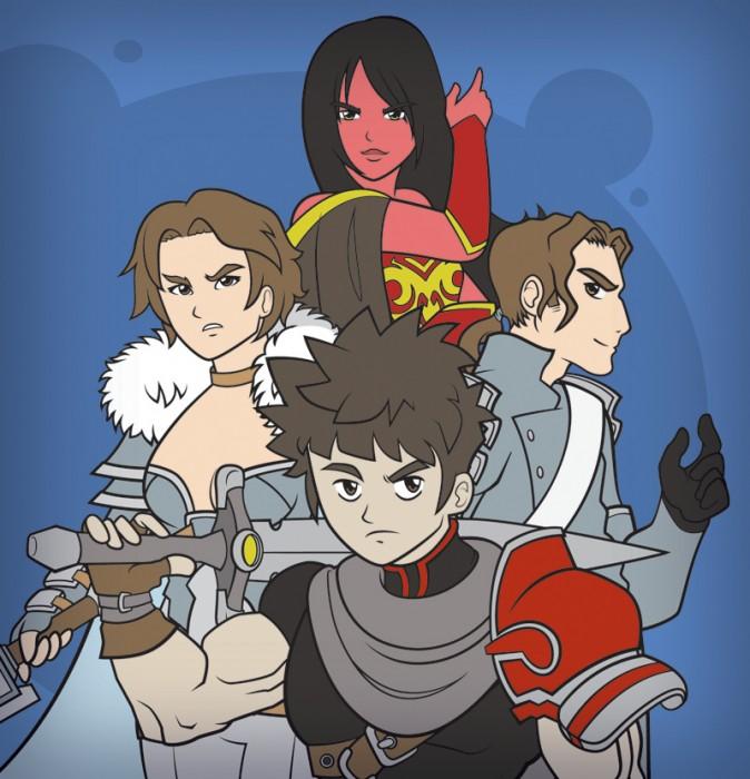 Kendra, Marian, Desmond e Dharon.